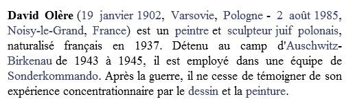 biographie David Olère1