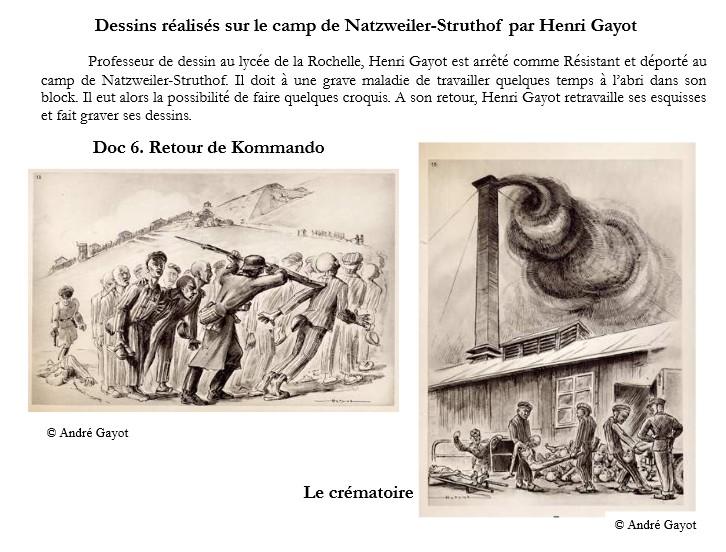 dessin de Henri Gayot sur le cap de Natzweiler-Struthof1