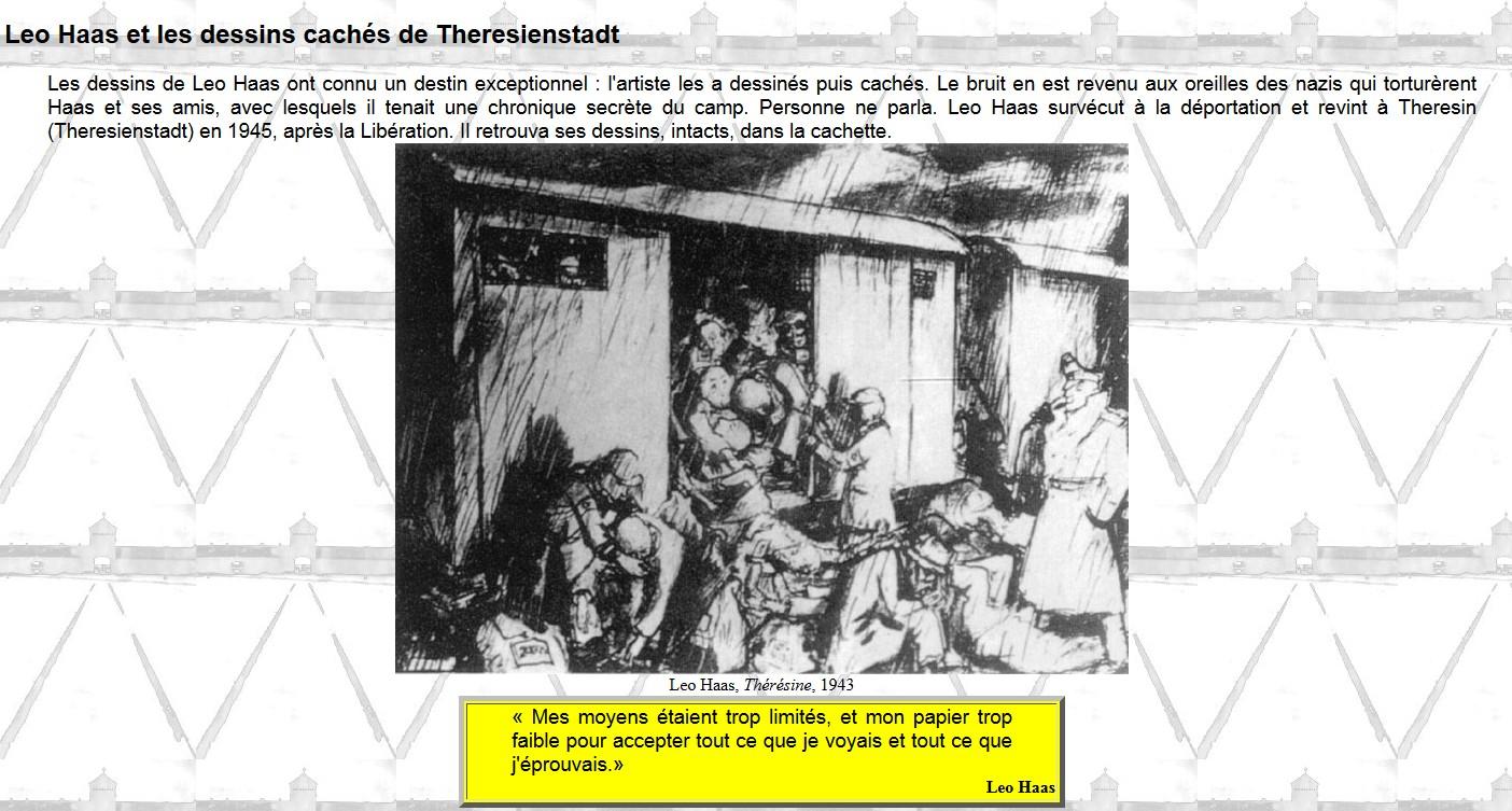 dessin de Léo Haas sur le camp de Theresienstadt1