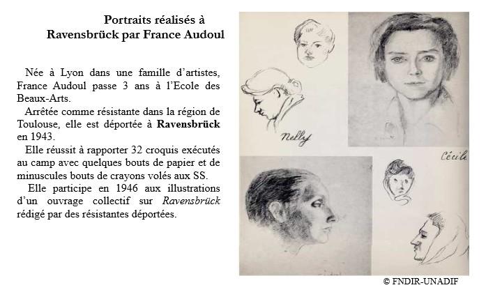 dessins de France Audoul sur le camp de Ravensbruck1
