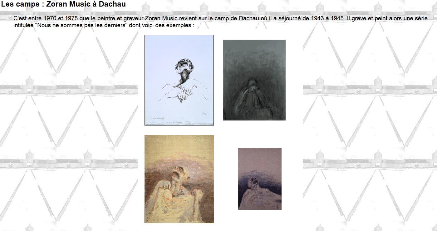 gravures et peintures de Zoran Music