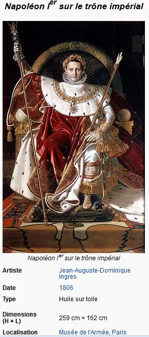 Napoléon 1er par le peintre Ingres