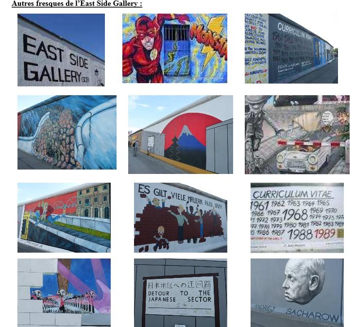 autres fresques de l'east side gallery
