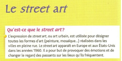 définition street art