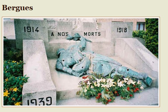 monument aux morts de morts de Bergues