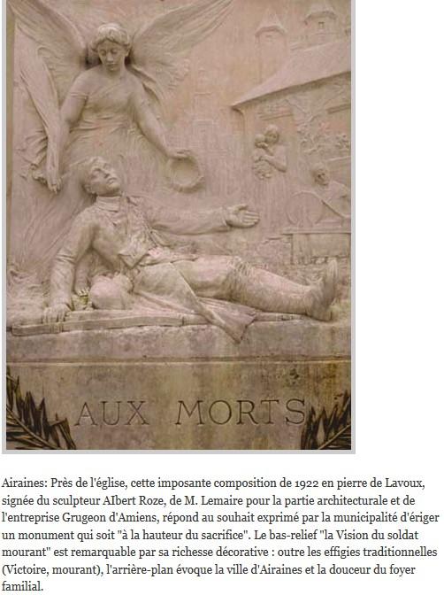 monument avec un soldat agonisant