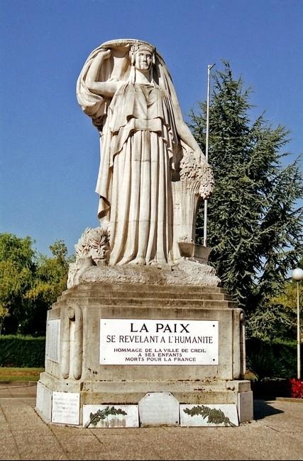 monuments aux morts pacifiste de Creil dans l'Oise
