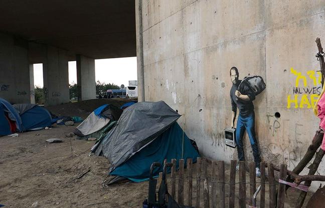 oeuvre de Banksy à Calais